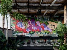 Inside Nobby's Grungy New Barbecue Joint And Rooftop Bar