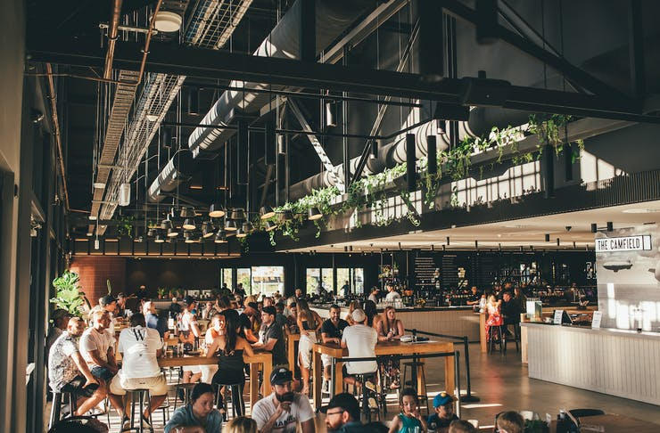 The dining hall at The Camfield for Father's Day Lunch