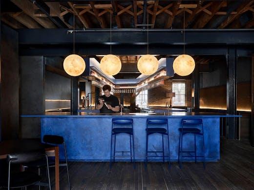 The juniper blue bar at Four Pillars Laboratory Sydney.