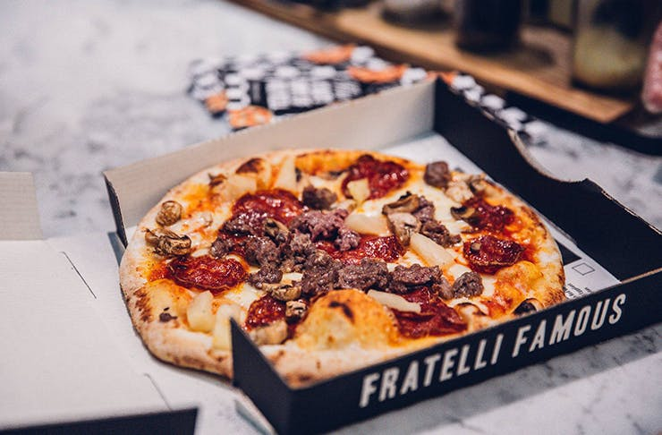 best pizza brisbane, Fratelli famous Brisbane