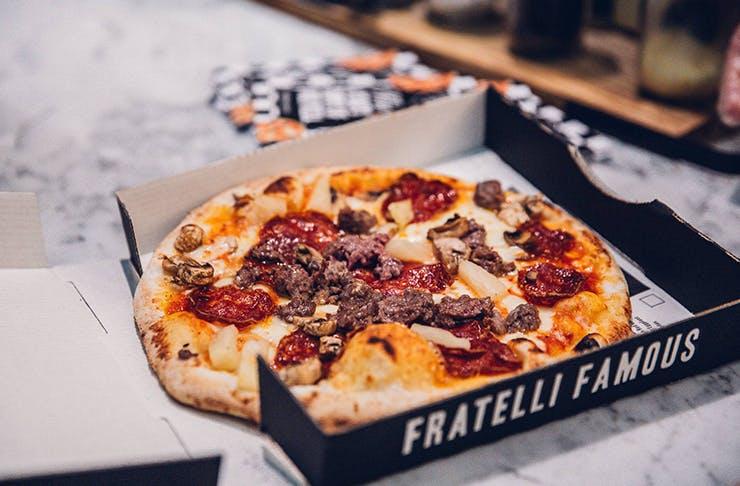 best pizza brisbane, Fratelli famous Brisbane
