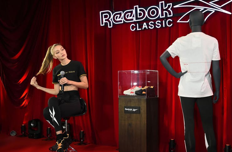 Here's Your First Look At Gigi Hadid's 90s-Inspired Reebok Collab