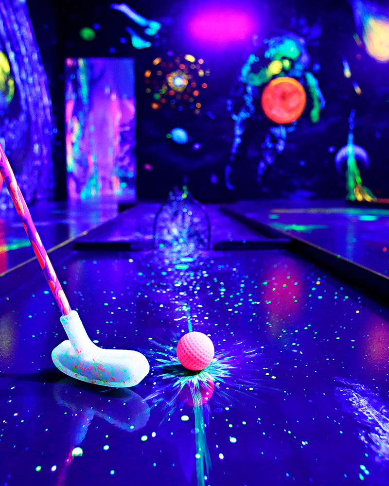 Glow In The Dark 3D Mini Golf Perth