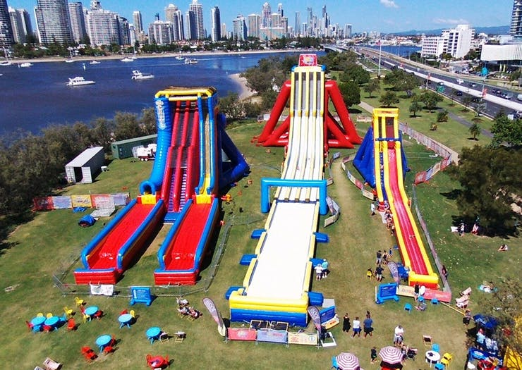 The World's Tallest Inflatable Waterslide Has Just Landed On The Coast!