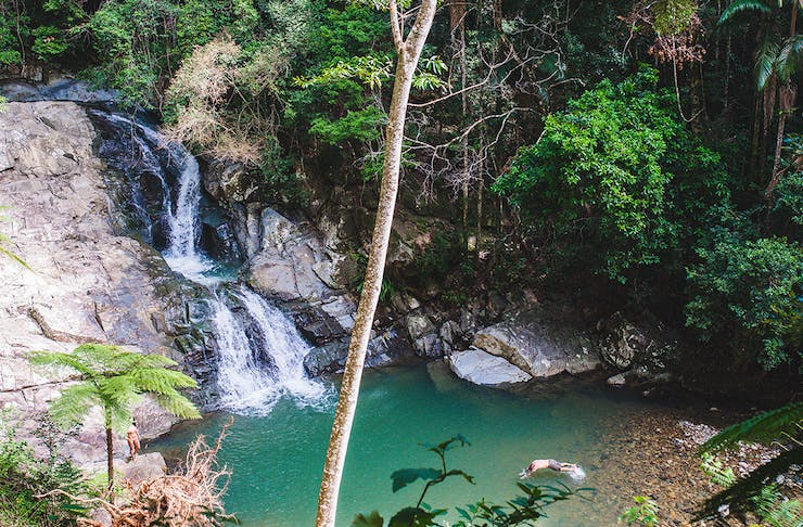 best Gold Coast waterfalls you can swim under