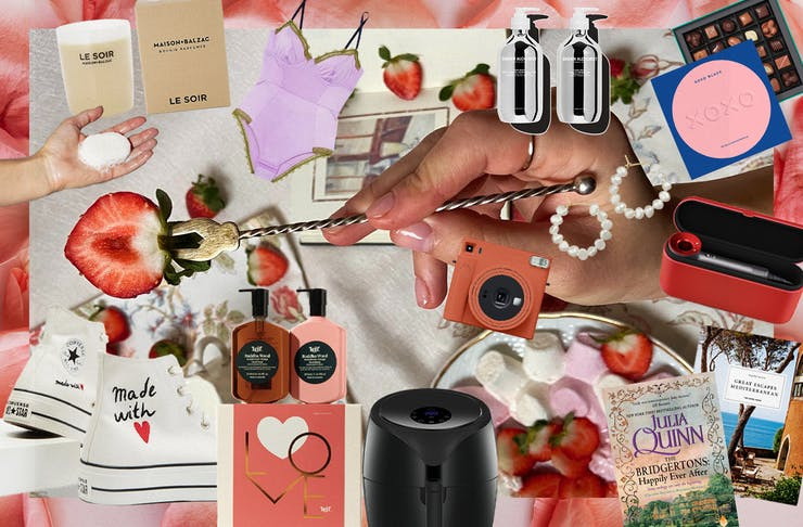 A collage of Valentine's Day Gifts For Her