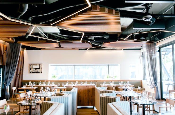 the interior of palette restaurant at HOTA
