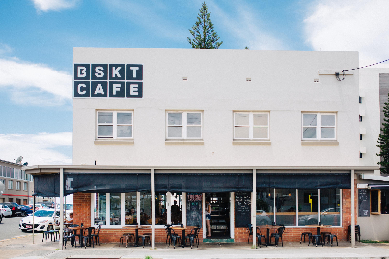 the exterior of BSKT cafe