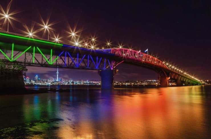 Where To Watch The Auckland Harbour Bridge Get Lit