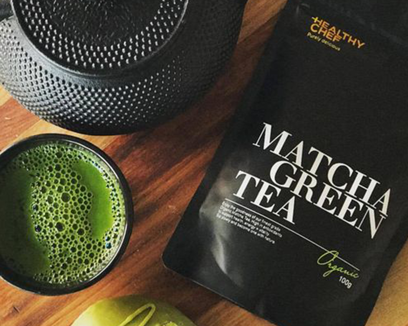 Matcha Tea pouch from The Healthy Chef