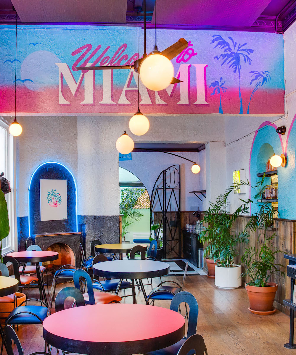 Interior of Neon Palms, one of Perth's best new bars of 2020