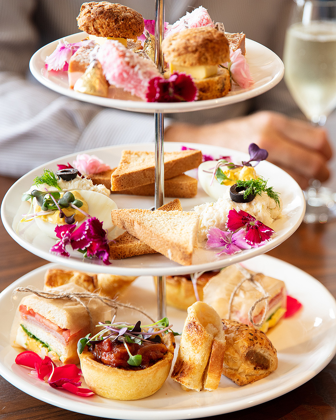 The New Zealand-themed high tea at Tuitui museum bistro and cafe.