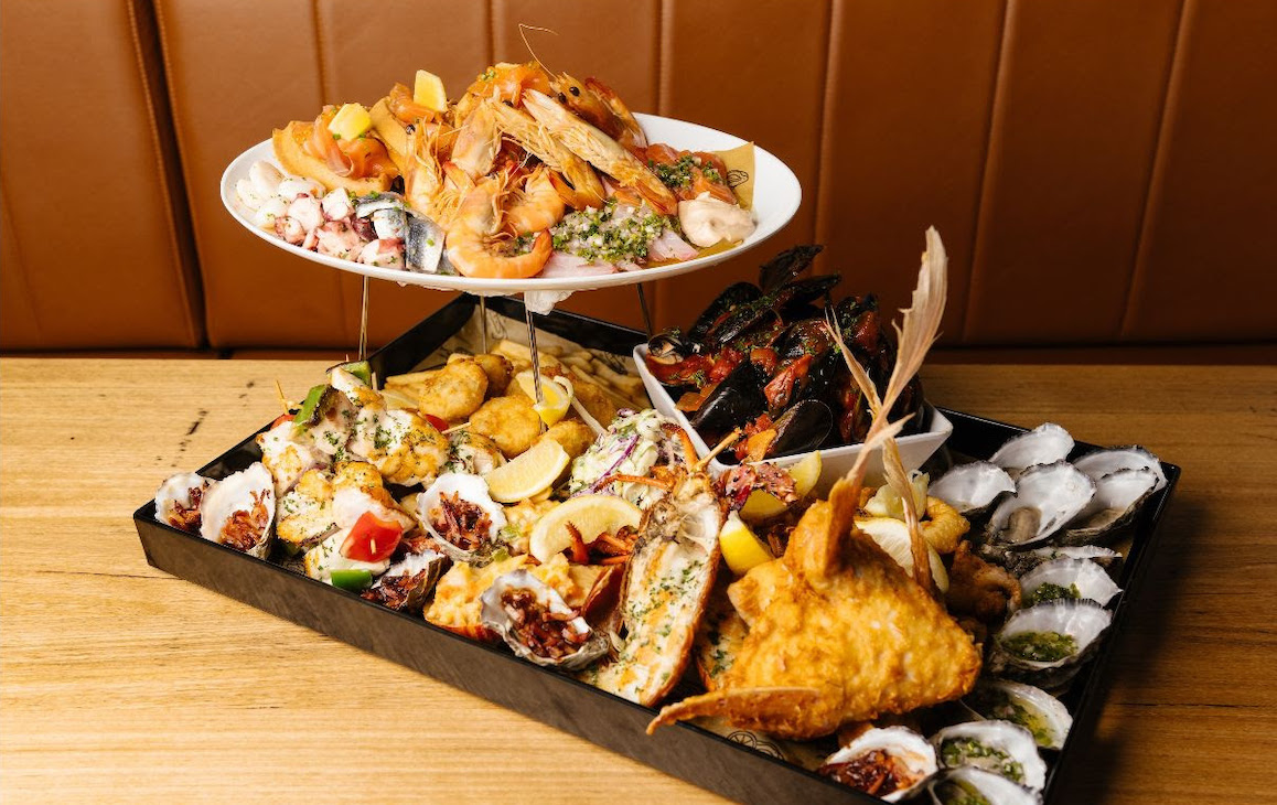 Double tiered seafood platter from Kailis in Fremantle