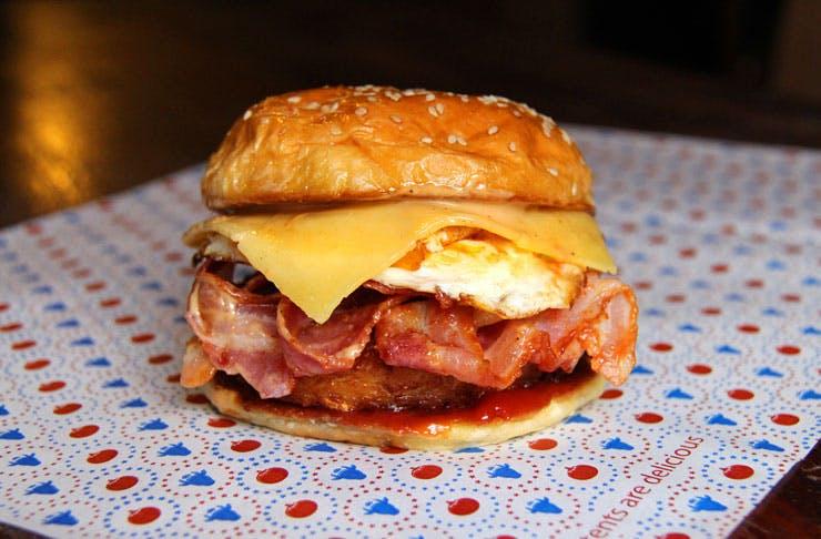 Huxtaburger Burgers Melbourne Breakfast