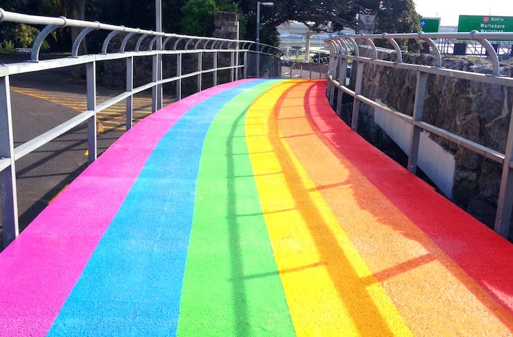 Auckland Has A New Rainbow Cycle Path!