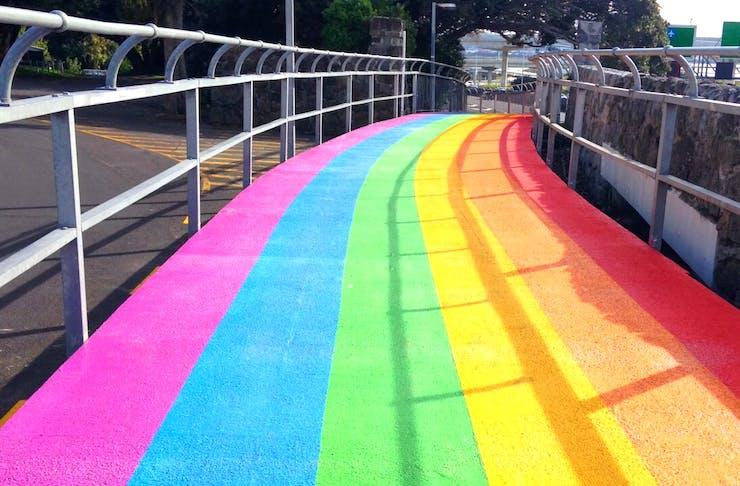 Auckland Has A New Rainbow Cycle Path!