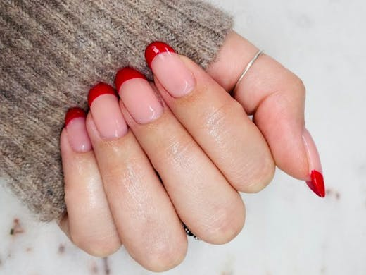 A neat manicure from the Nail Studio in Sandringham.