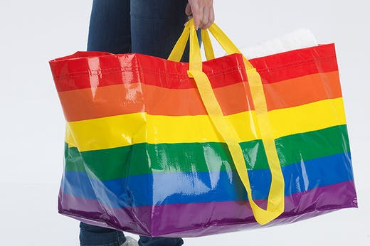 Wear Your Pride On Your Sleeve, IKEA's Most Iconic Bag Has Had A Rainbow Makeover