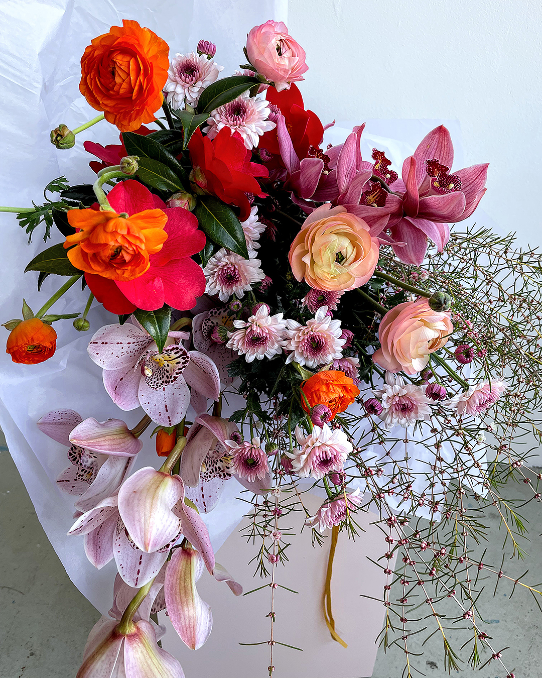 A colourful bouquet from Isadia.