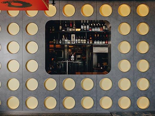 The interior and bar of Robata