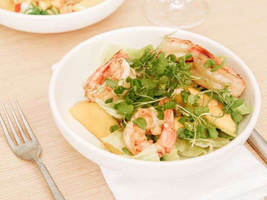 a fresh prawn salad