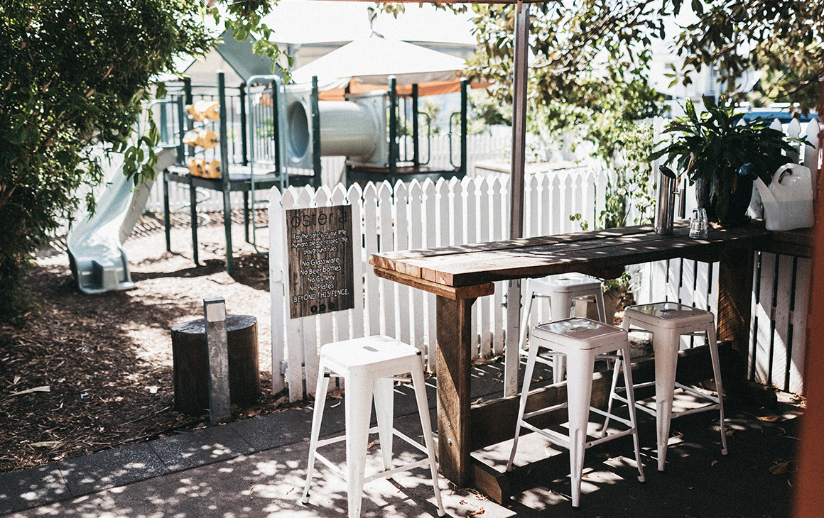 A short stroll to burleigh heads parklands you could even give the kids a quick play pre cafe date to lower those energy levels