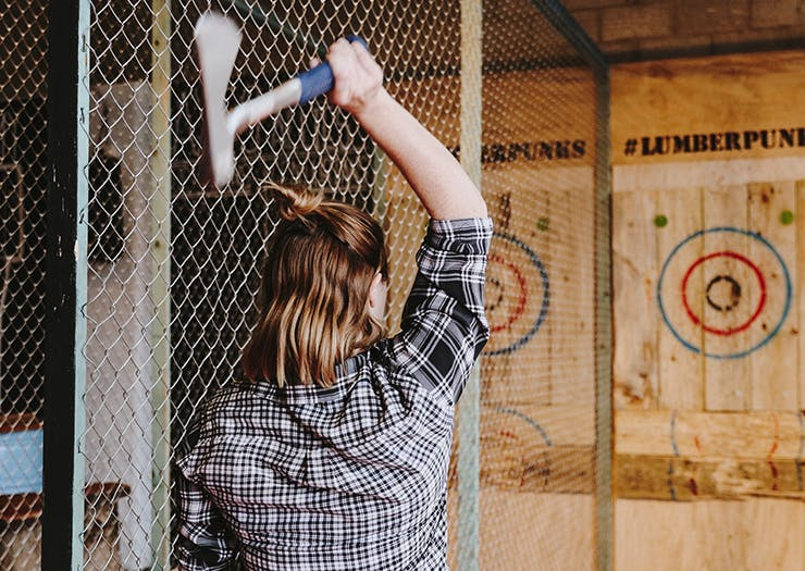 Here's Why Axe Throwing Is Brisbane's Answer To Mindfulness
