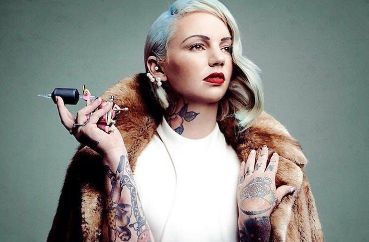 Lauren Winzer celebrity tattooist
