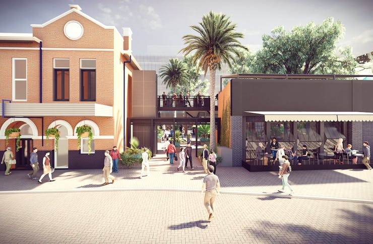 Artist impression of the new Leederville Hotel redevelopment