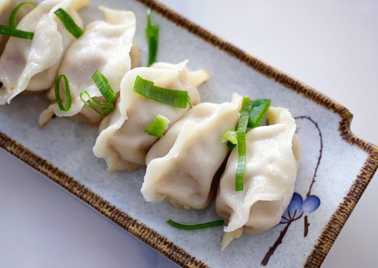 Small plate of dumplings