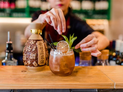 A Báijiǔ Cocktail from Little China Girl
