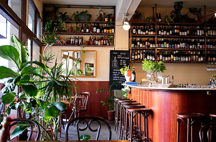 The bar at Madalena's, one of Perth's best wine bars