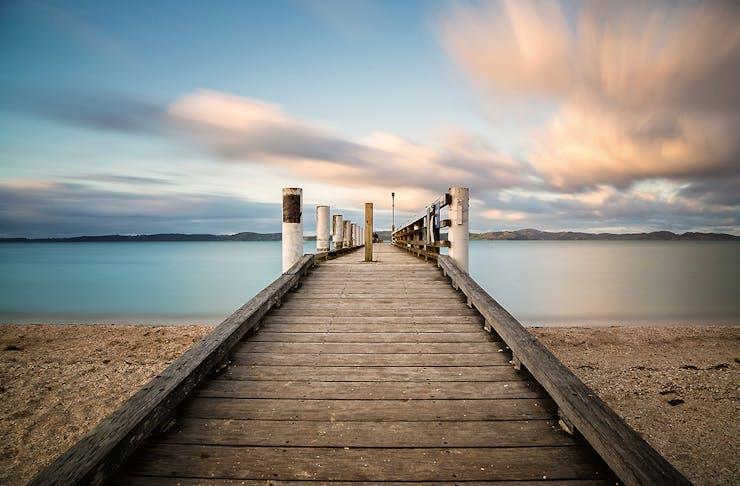 Mood at Maraetai Beach, East coast, New Zealand