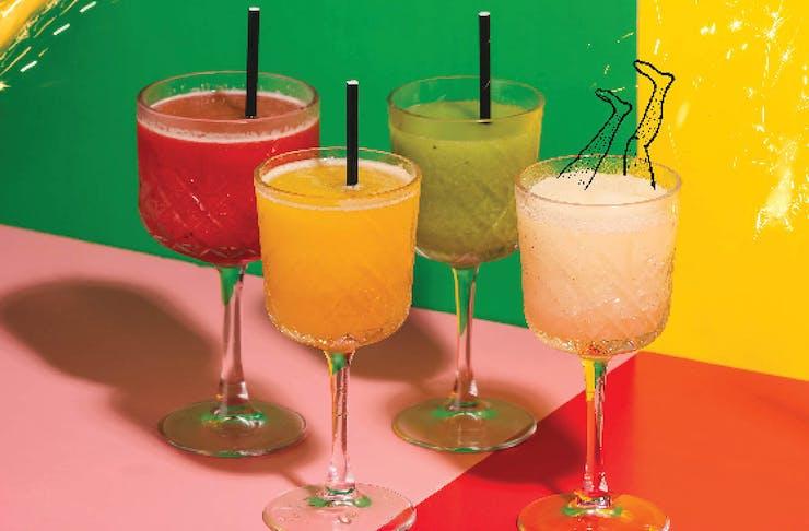 Frozen Margaritas of every description.