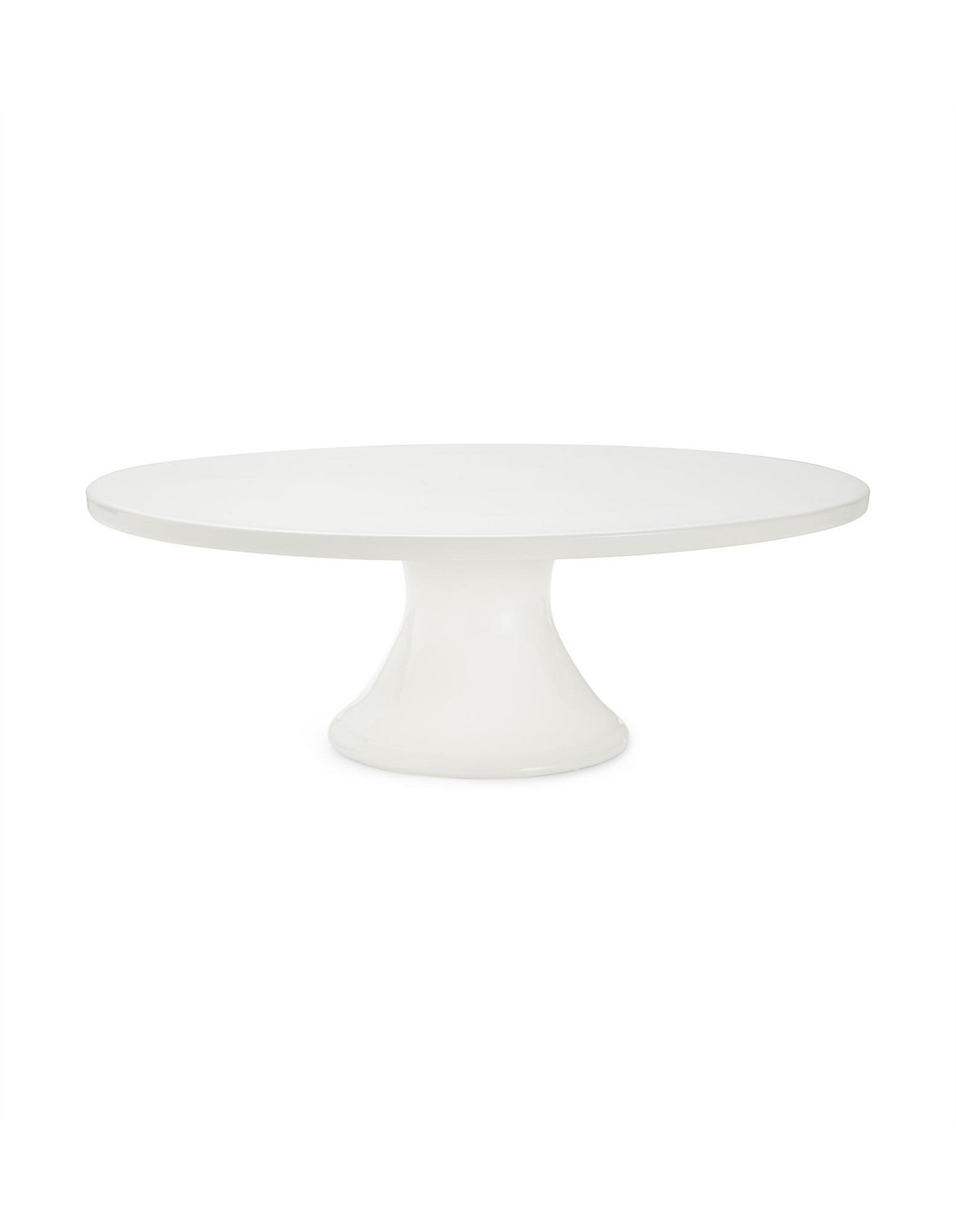 A simple white cake stand.