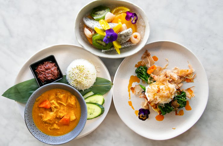 three breakfast dishes at Miss Chow's