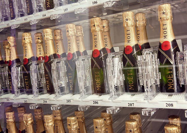 Life = Made! You Can Now Buy Mini Moët Bottles Via Vending Machine