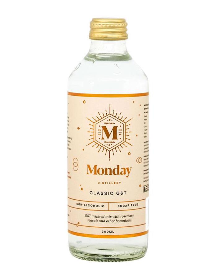 Bottle Of Monday Distillery's Non-Alcoholic G&T