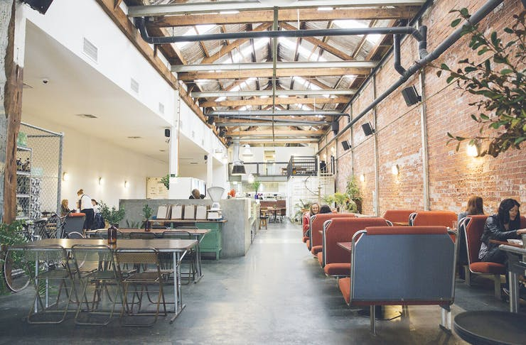 The interior at The Raw Kitchen which will re-open at Mother