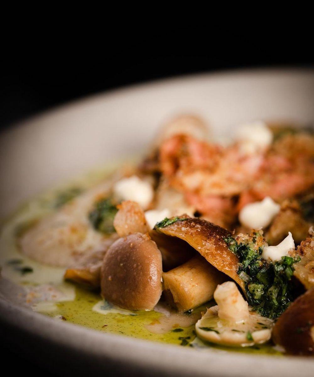 Mushroom dish at Heritage Wine Bar