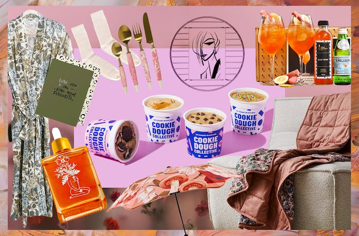 A collage of images showing some contenders for your perfect mothers day gift.