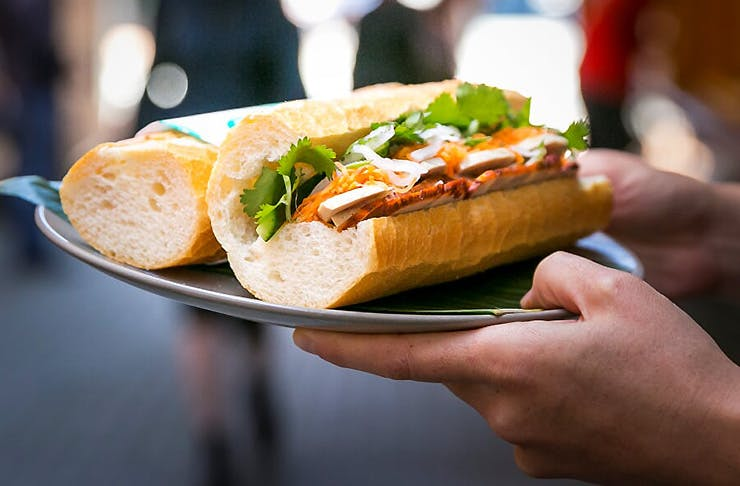A delicious looking bahn mi from Nam D