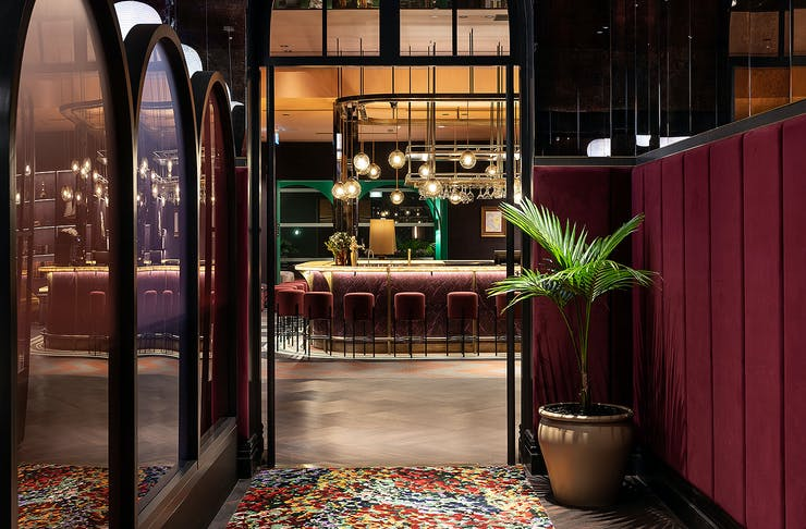 The bar at the Naumi Studio Hotel Wellington, one of the best hotels in Wellington.