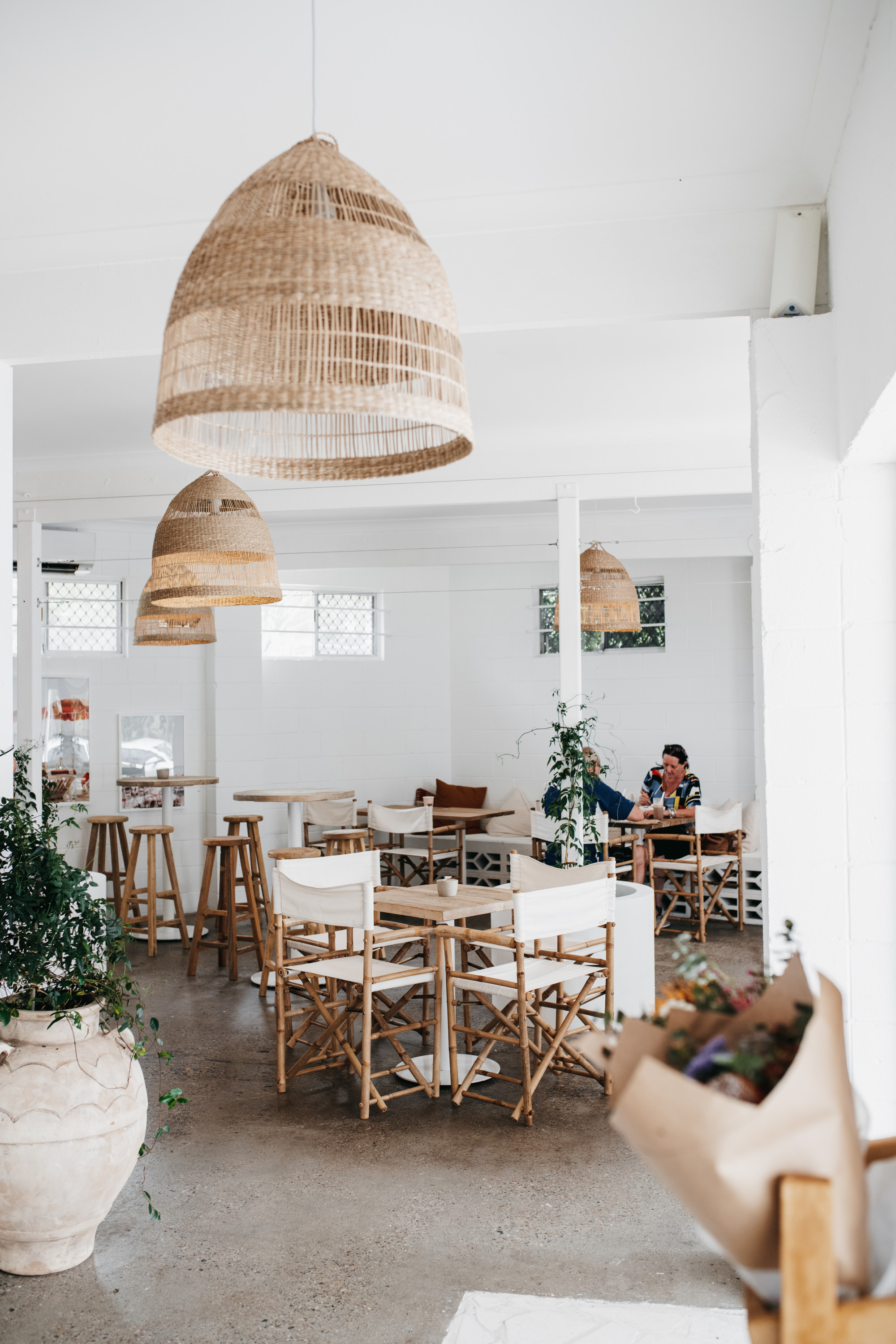 the beautiful interior of a cafe