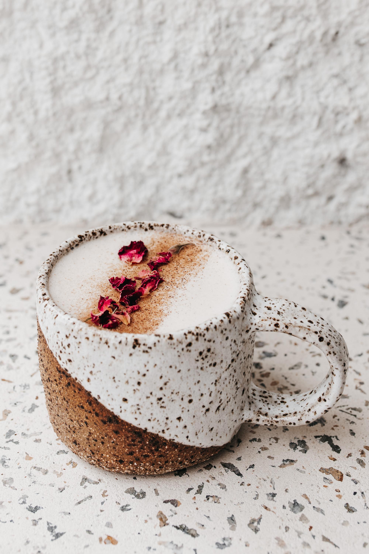 coffee in a beautiful handmade ceramic mug