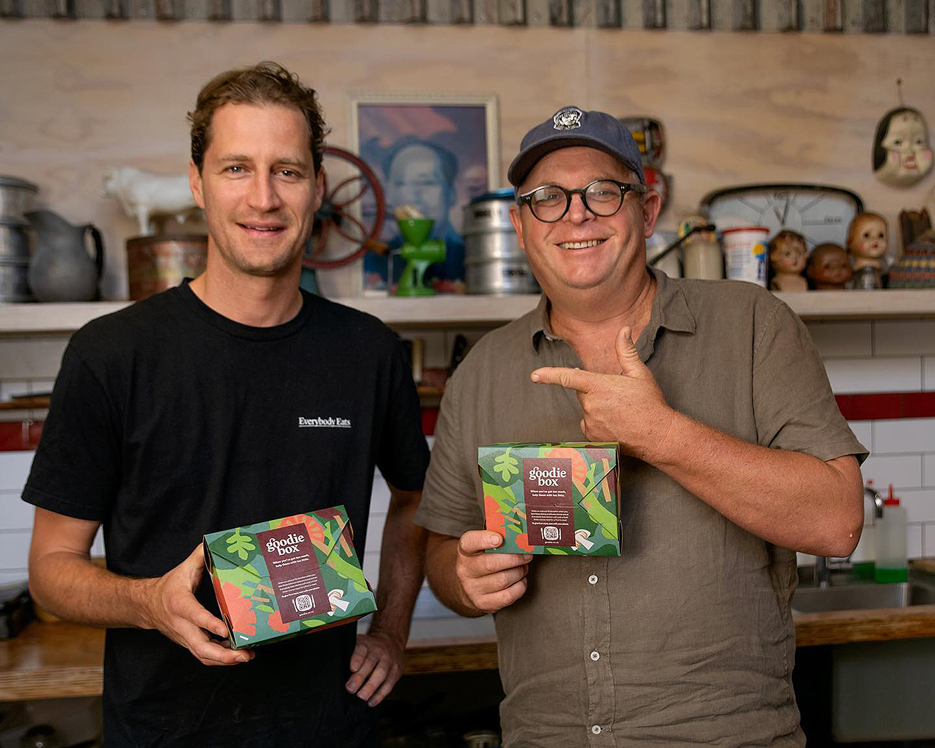 Nick Loosley with Al Brown and the Goodie Box
