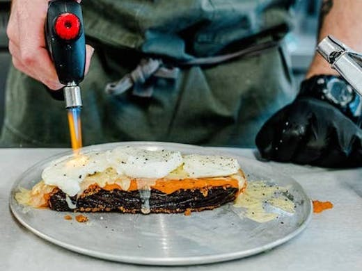 Blowtorch grilled cheese at Oh So Deli