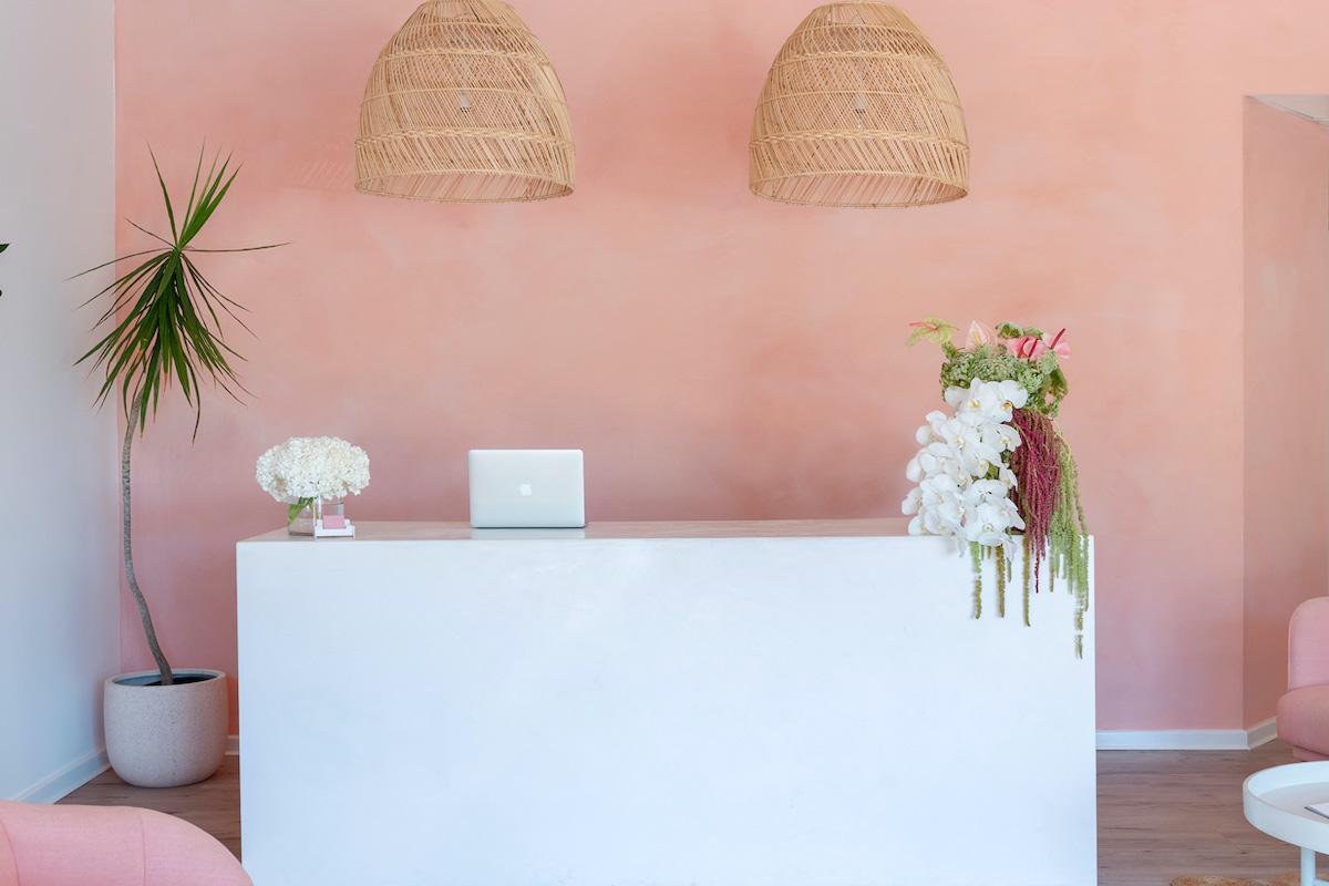 Front desk at Olive & July