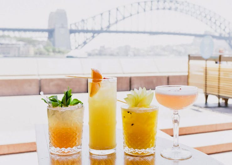 waterfront bar in Sydney