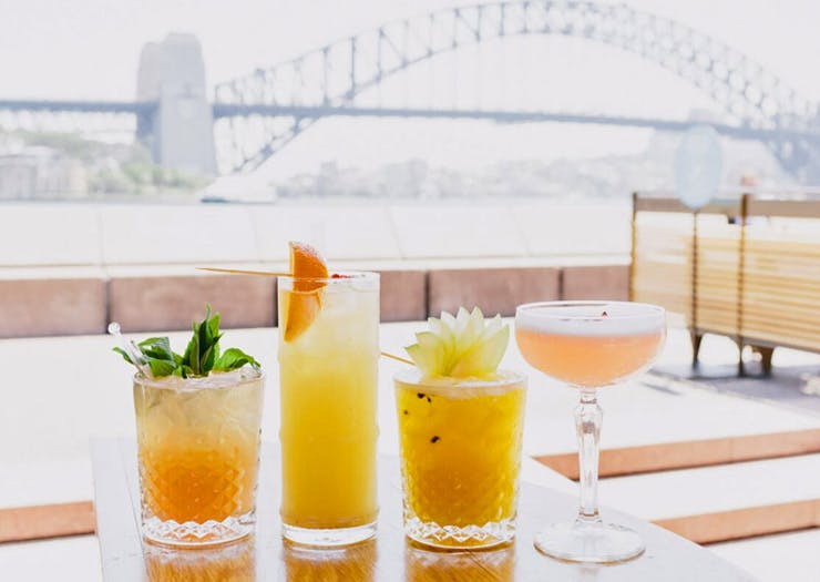 waterfront bar in Sydney